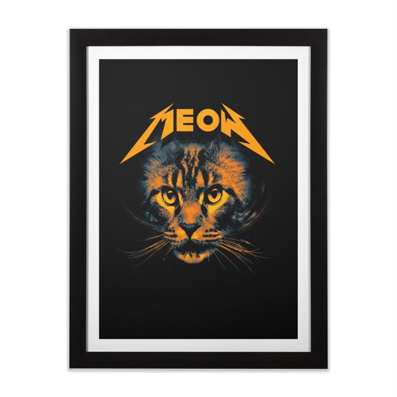 Meow Home Framed Fine Art Print by nicebleed