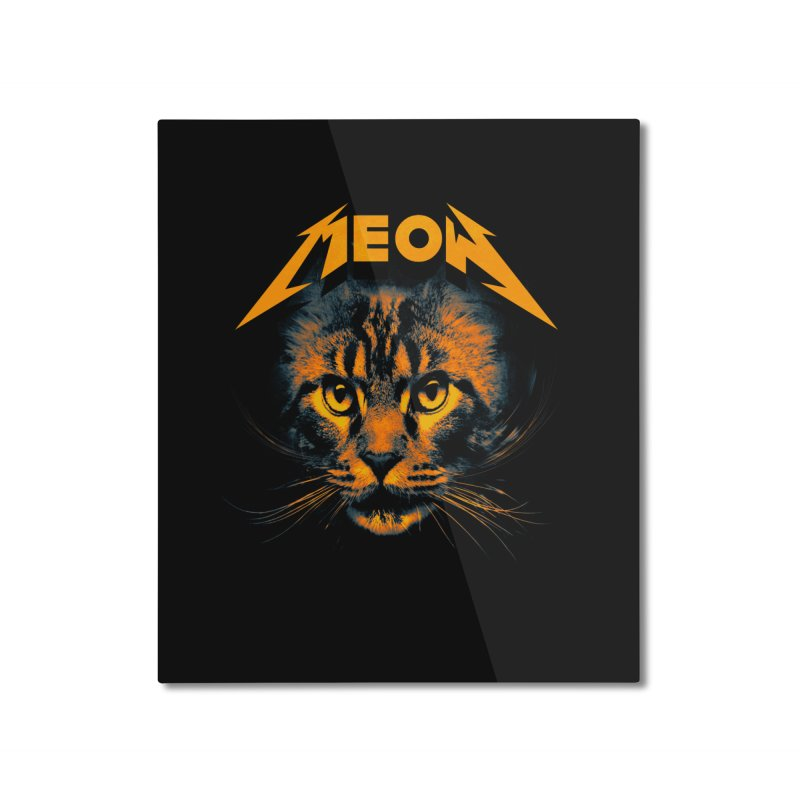 Meow Home Mounted Aluminum Print by nicebleed