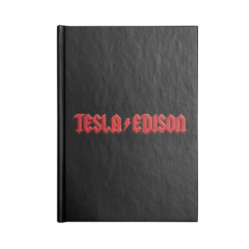 Tesla vs. Edison Accessories Notebook by nicebleed