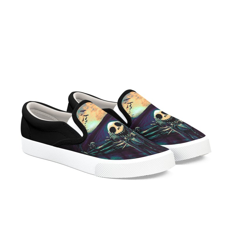 The Scream Before Christmas Men's Slip-On Shoes by nicebleed