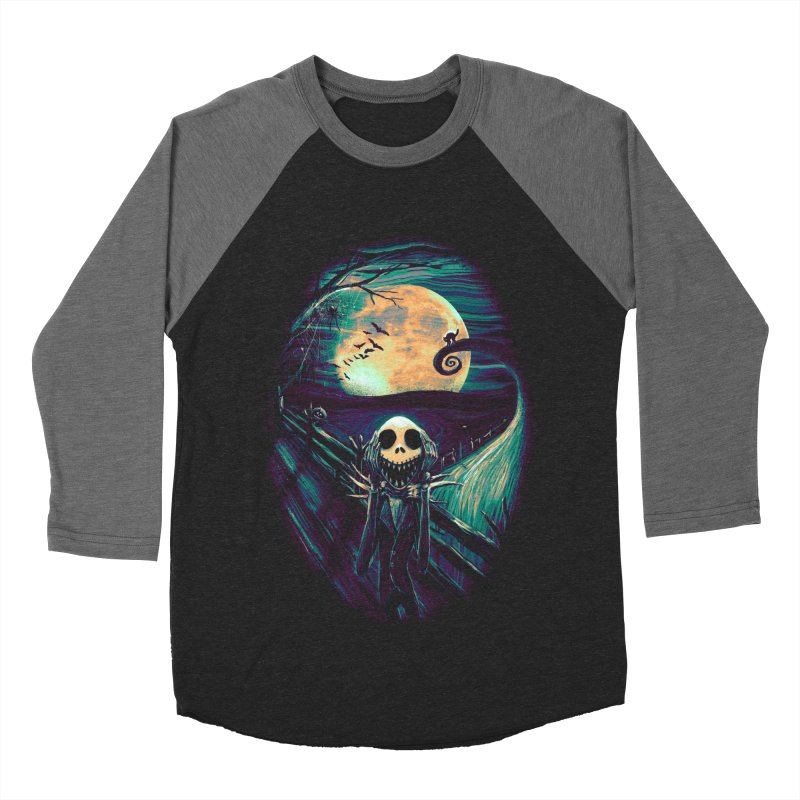 The Scream Before Christmas Men's Baseball Triblend Longsleeve T-Shirt by nicebleed