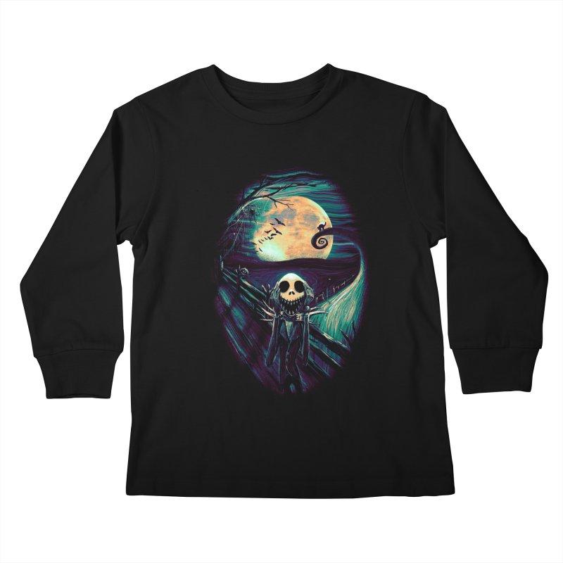 The Scream Before Christmas Kids Longsleeve T-Shirt by nicebleed