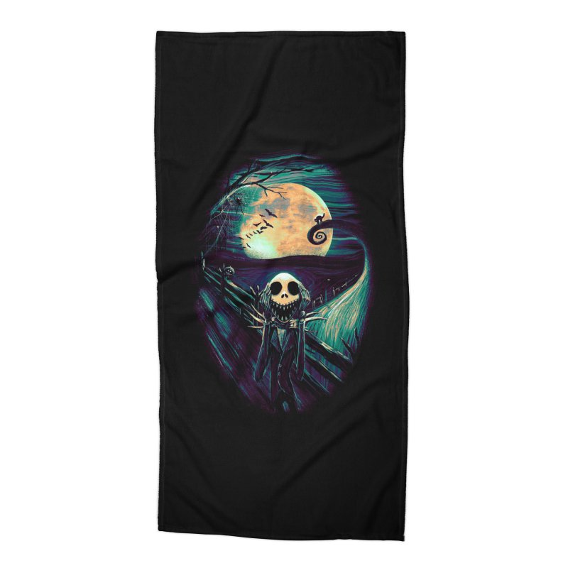 The Scream Before Christmas Accessories Beach Towel by nicebleed