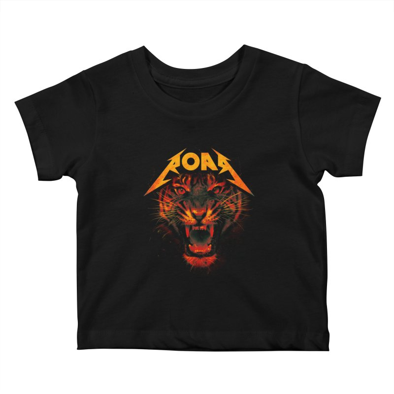 Roar Kids Baby T-Shirt by nicebleed
