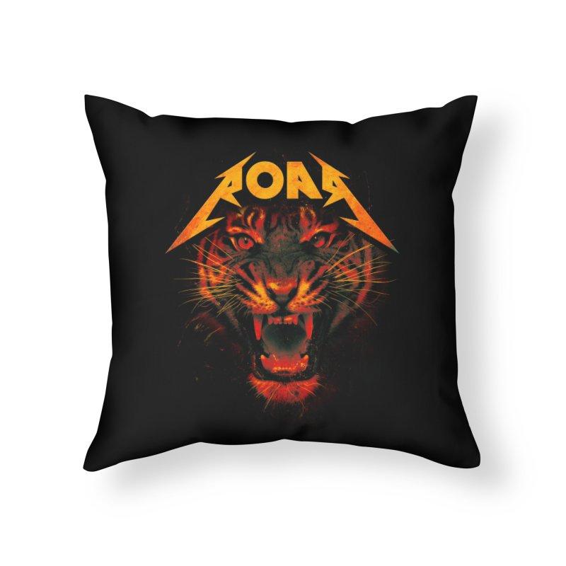 Roar Home Throw Pillow by nicebleed