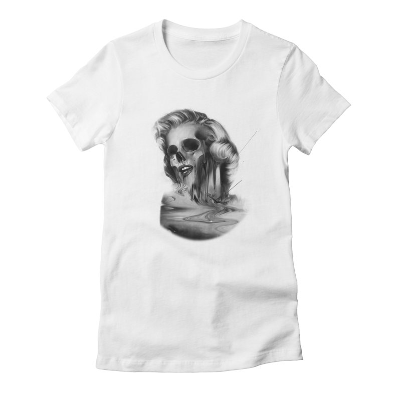 Marilyn in Women's Fitted T-Shirt White by nicebleed