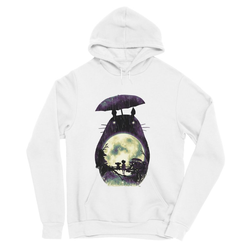 Totoro Men's Sponge Fleece Pullover Hoody by nicebleed