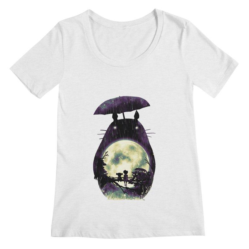 Totoro Women's Regular Scoop Neck by nicebleed