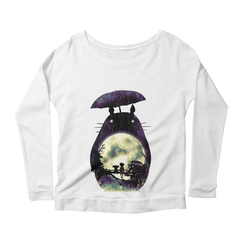 Totoro Women's Scoop Neck Longsleeve T-Shirt by nicebleed