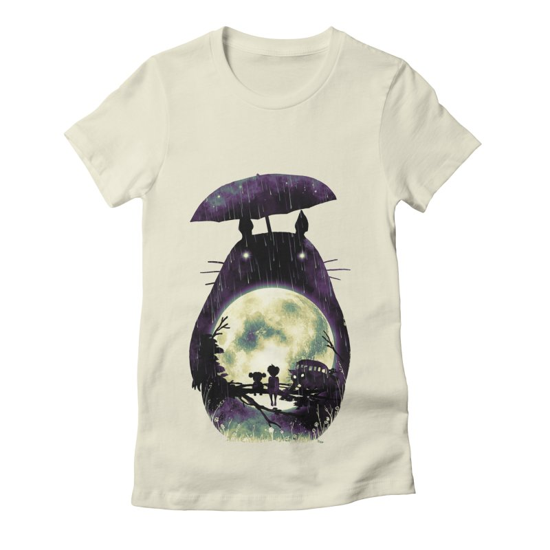 Totoro Women's Fitted T-Shirt by nicebleed
