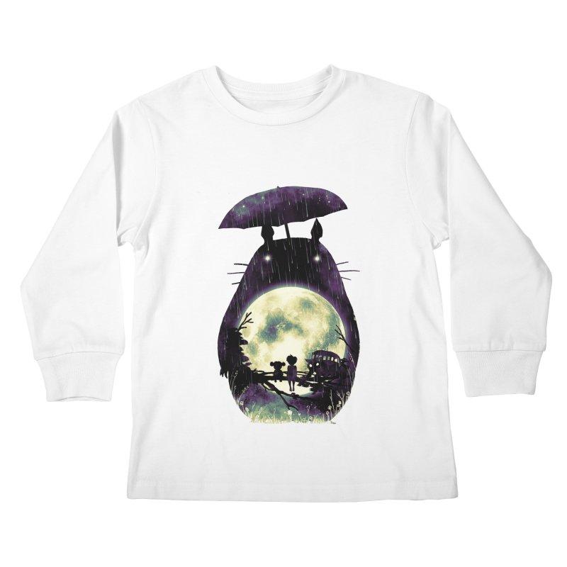 Totoro Kids Longsleeve T-Shirt by nicebleed