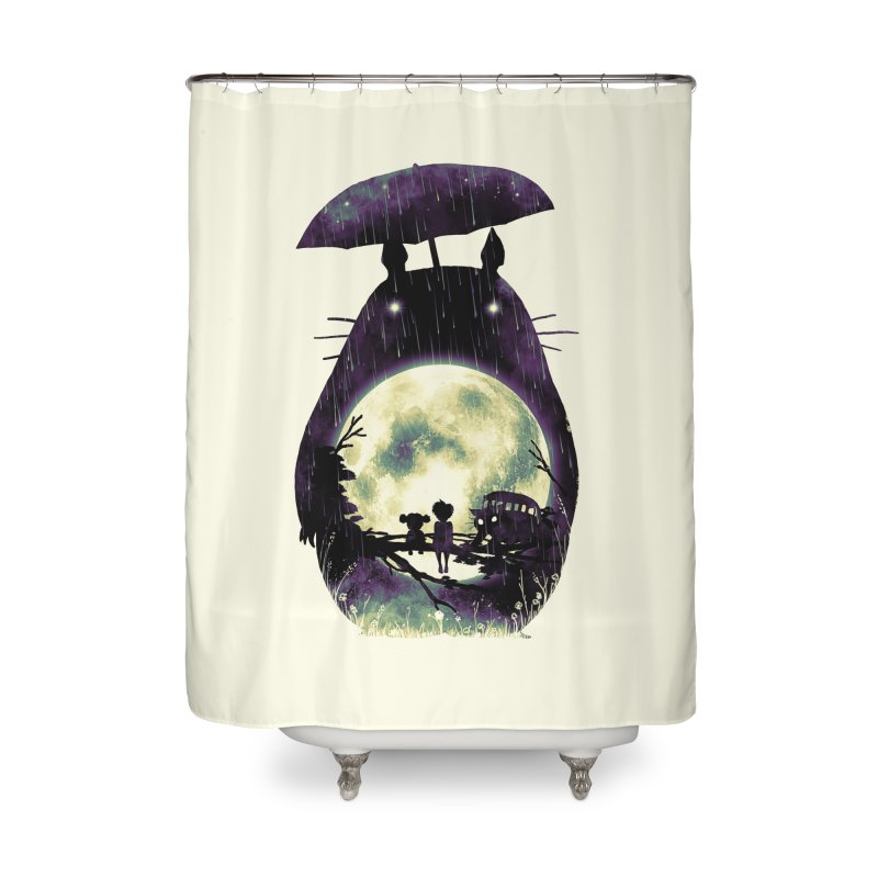 Totoro Home Shower Curtain by nicebleed
