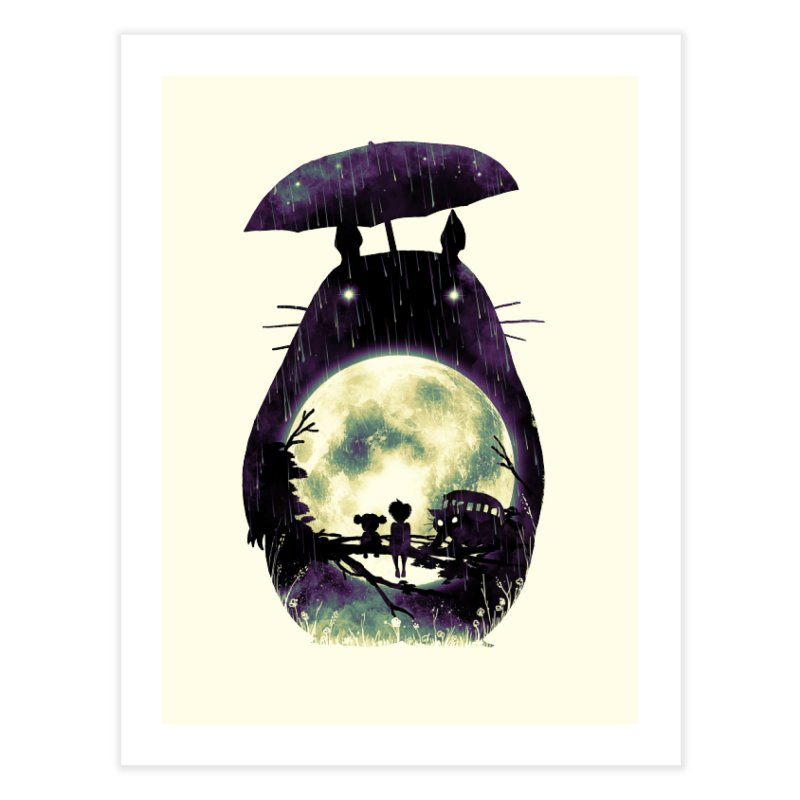 Totoro Home Fine Art Print by nicebleed