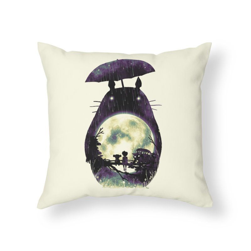 Totoro Home Throw Pillow by nicebleed