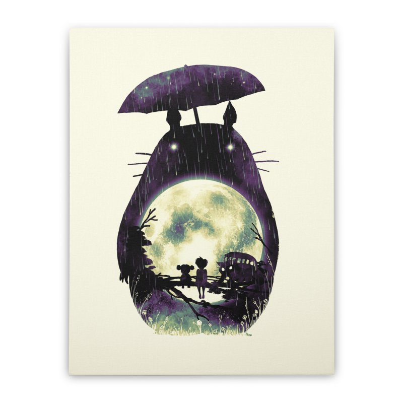 Totoro Home Stretched Canvas by nicebleed