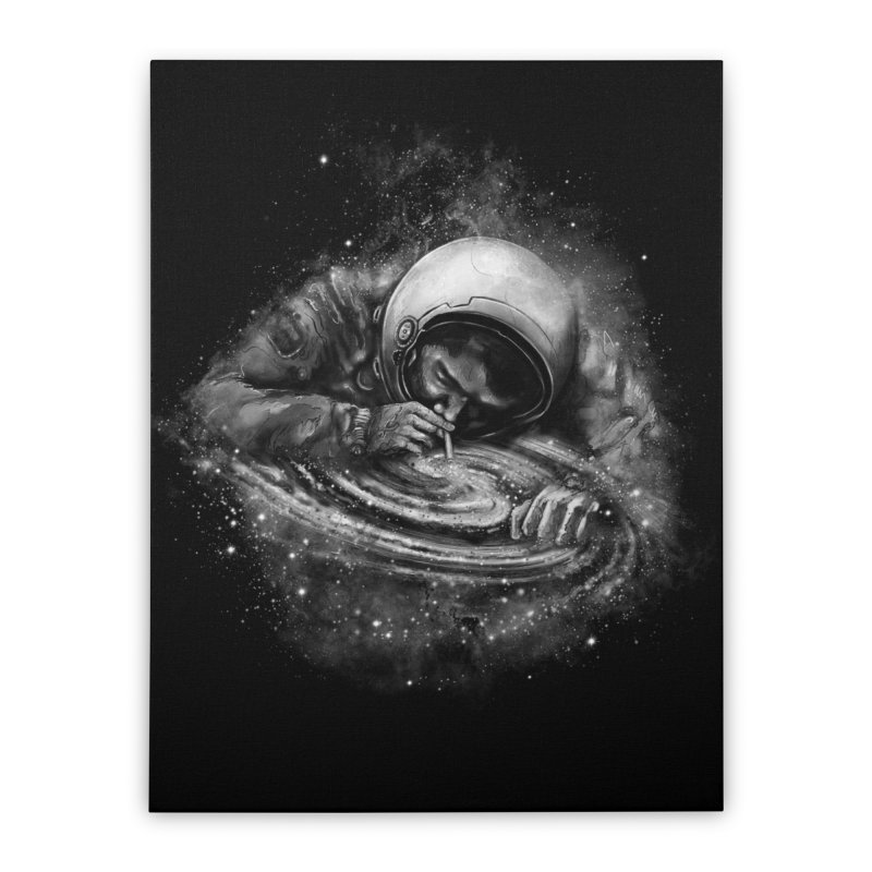 Space Junkie Home Stretched Canvas by nicebleed
