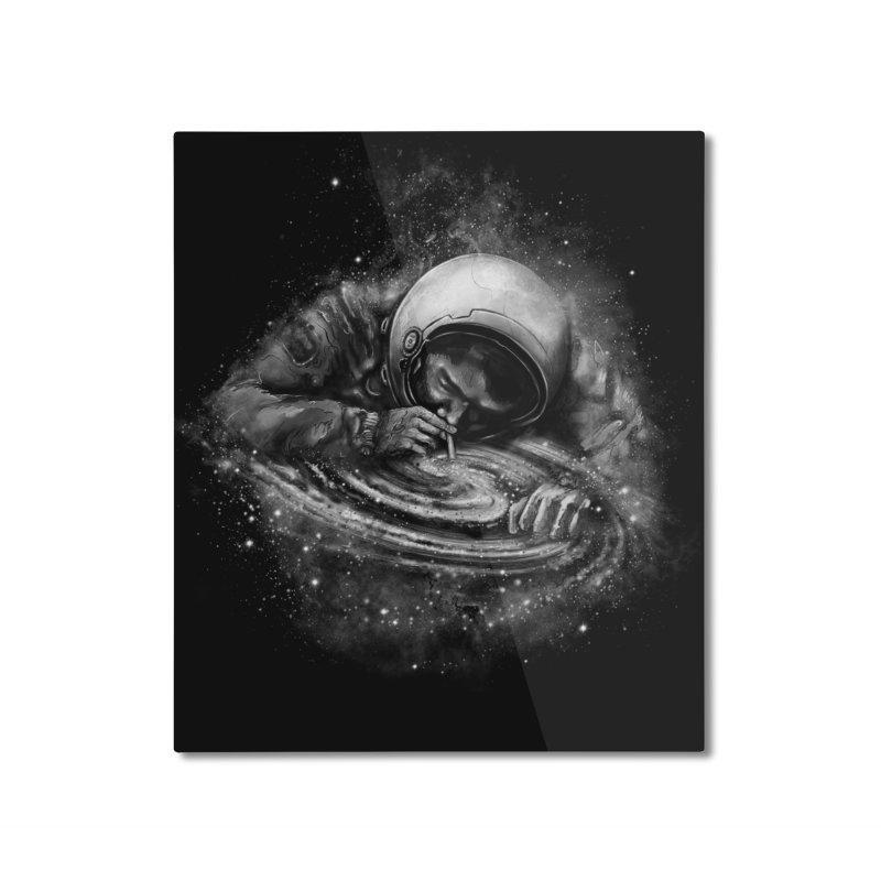 Space Junkie Home Mounted Aluminum Print by nicebleed