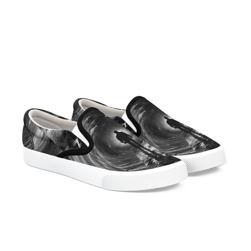 Spacetime Women's Slip-On Shoes by nicebleed
