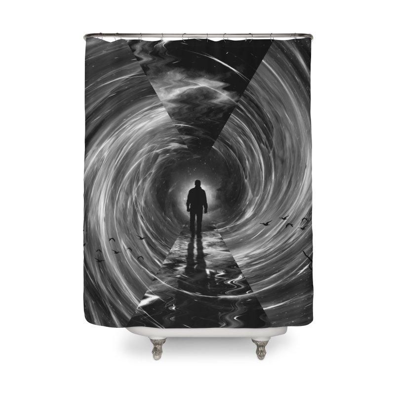 Spacetime Home Shower Curtain by nicebleed
