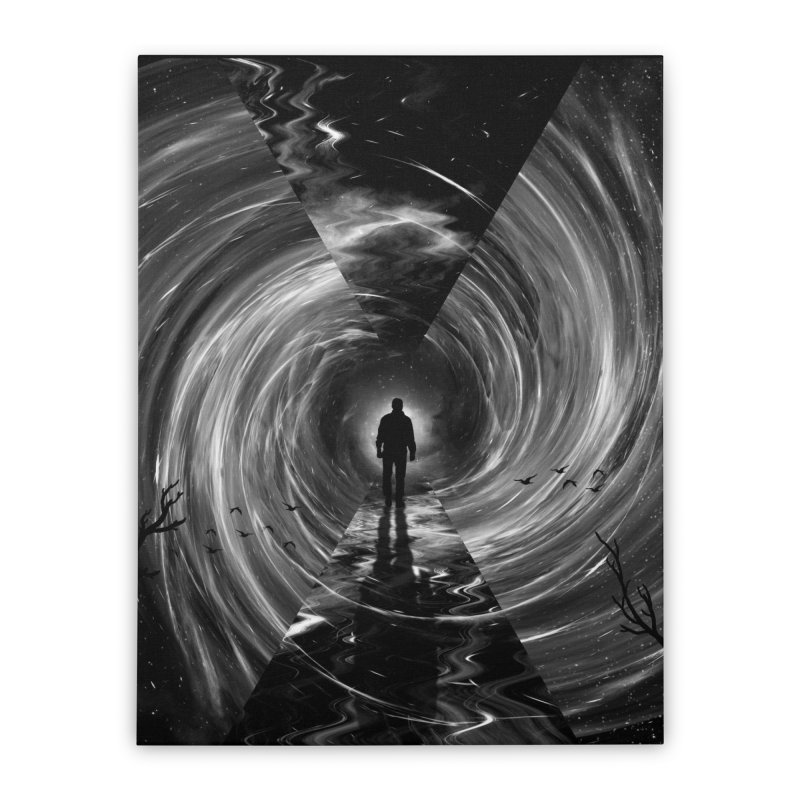 Spacetime Home Stretched Canvas by nicebleed