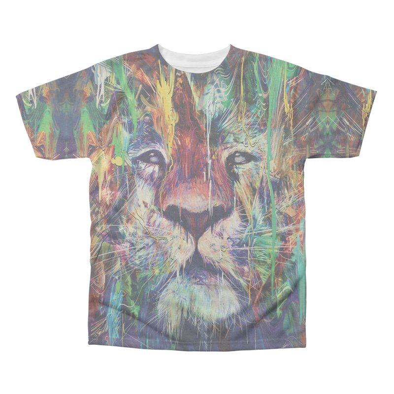Lion Men's Triblend All Over Print by nicebleed
