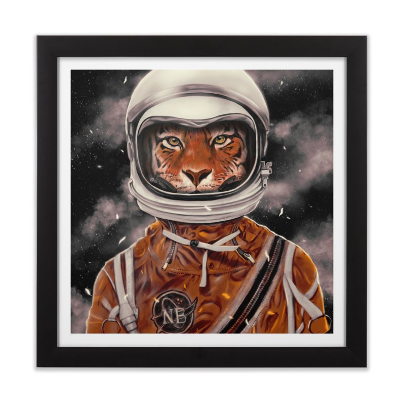 Astro Tiger Home Framed Fine Art Print by nicebleed