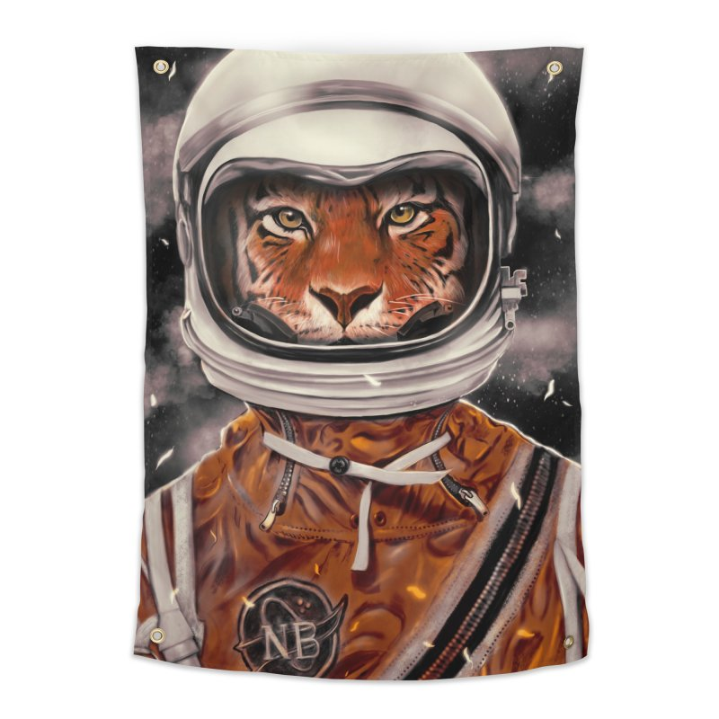 Astro Tiger Home Tapestry by nicebleed