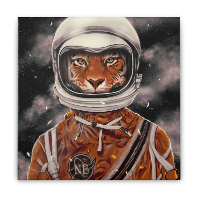 Astro Tiger Home Stretched Canvas by nicebleed