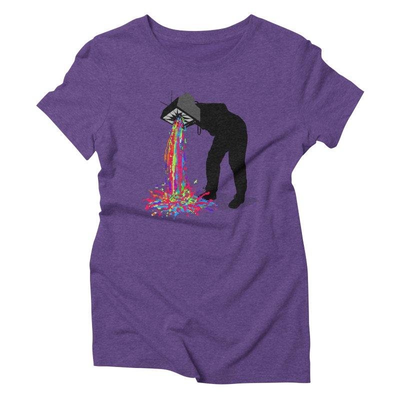 Pixel Vomit Women's Triblend T-Shirt by nicebleed