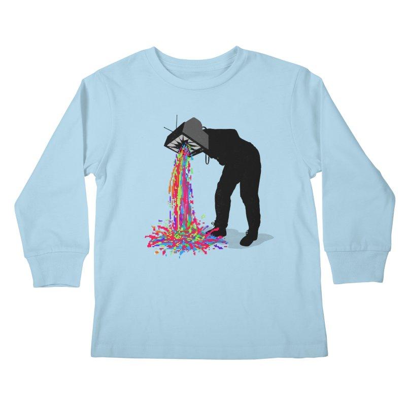 Pixel Vomit Kids Longsleeve T-Shirt by nicebleed