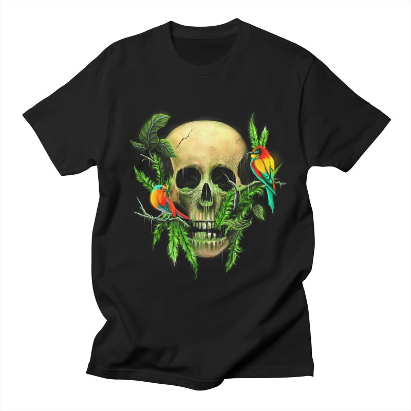 Life and Death in Men's Regular T-Shirt Black by nicebleed