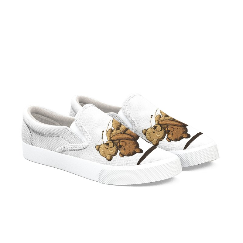 Bear Hug Women's Slip-On Shoes by nicebleed