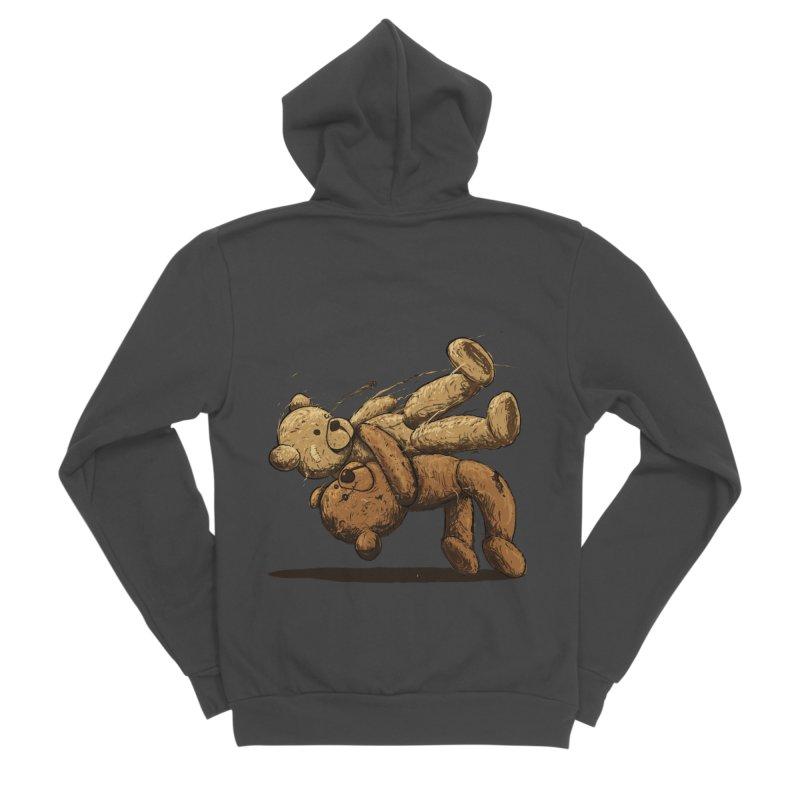 Bear Hug Men's Sponge Fleece Zip-Up Hoody by nicebleed