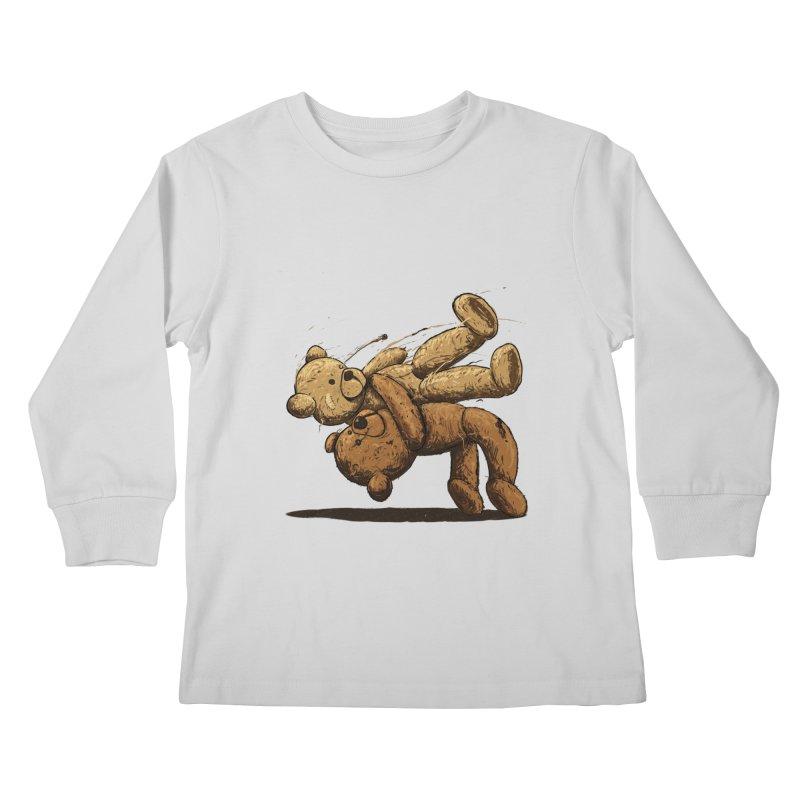 Bear Hug Kids Longsleeve T-Shirt by nicebleed