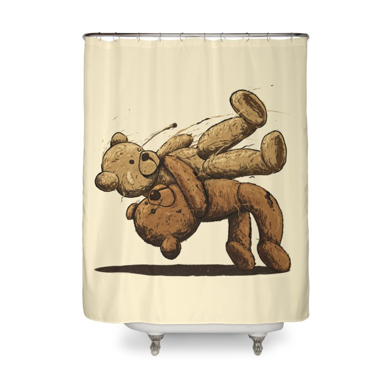 Bear Hug Home Shower Curtain by nicebleed