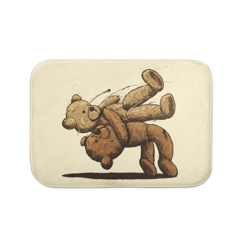 Bear Hug Home Bath Mat by nicebleed