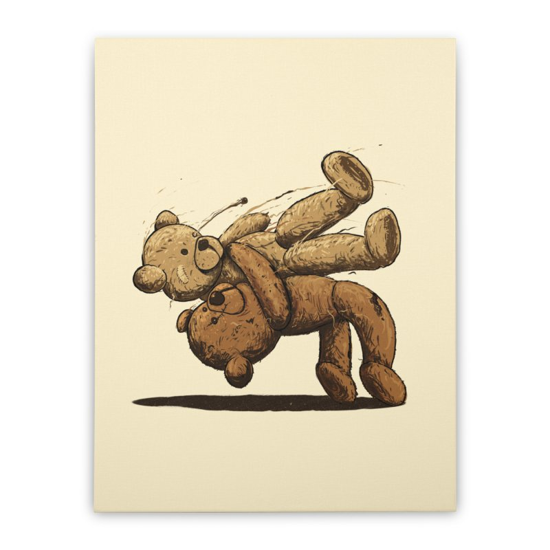 Bear Hug Home Stretched Canvas by nicebleed