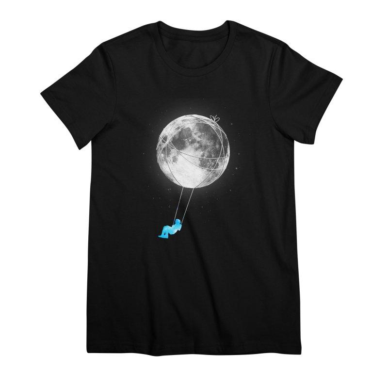 Moon Swing Women's Premium T-Shirt by nicebleed