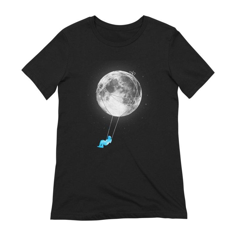 Moon Swing Women's Extra Soft T-Shirt by nicebleed