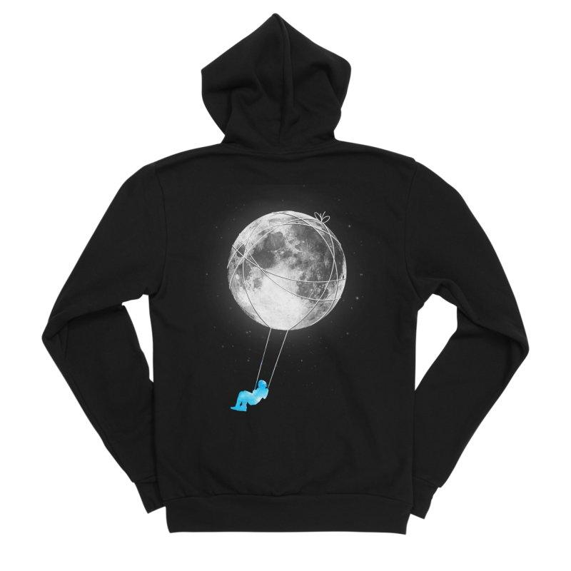 Moon Swing Men's Sponge Fleece Zip-Up Hoody by nicebleed
