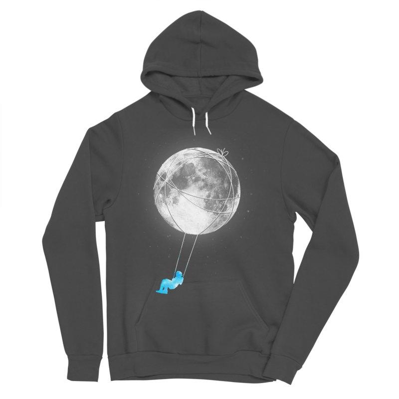 Moon Swing Men's Sponge Fleece Pullover Hoody by nicebleed