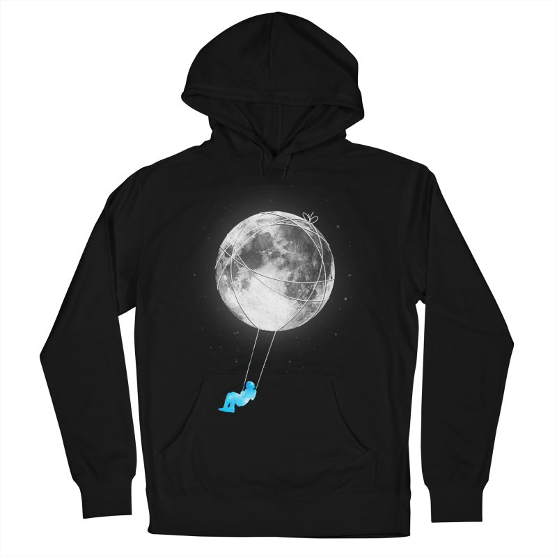 Moon Swing Men's French Terry Pullover Hoody by nicebleed