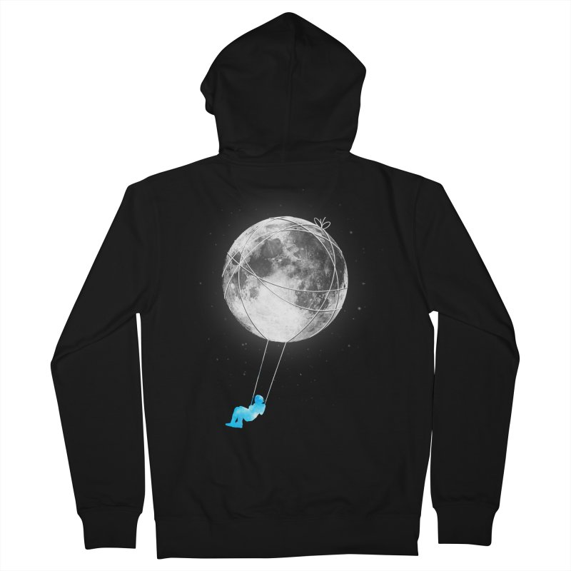 Moon Swing Women's French Terry Zip-Up Hoody by nicebleed
