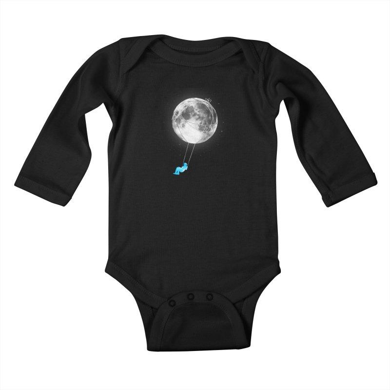 Moon Swing Kids Baby Longsleeve Bodysuit by nicebleed