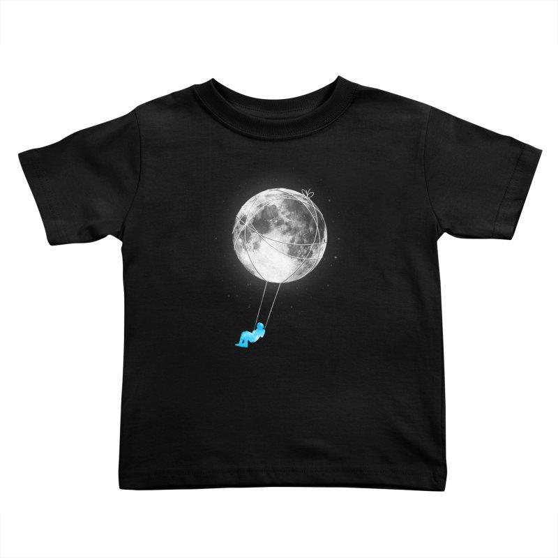 Moon Swing Kids Toddler T-Shirt by nicebleed