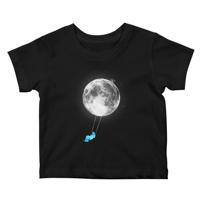 Moon Swing Kids Baby T-Shirt by nicebleed