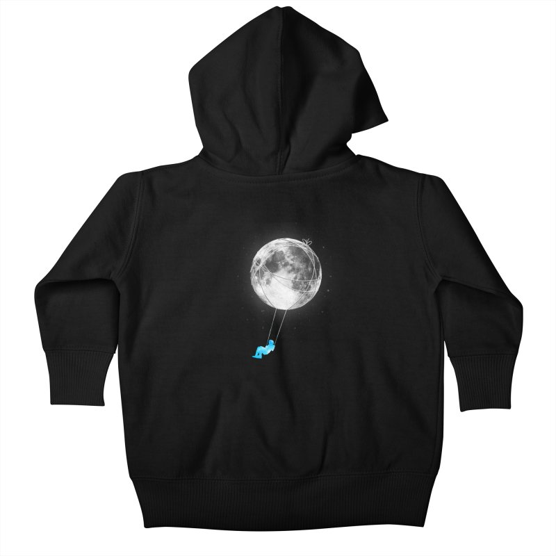 Moon Swing Kids Baby Zip-Up Hoody by nicebleed