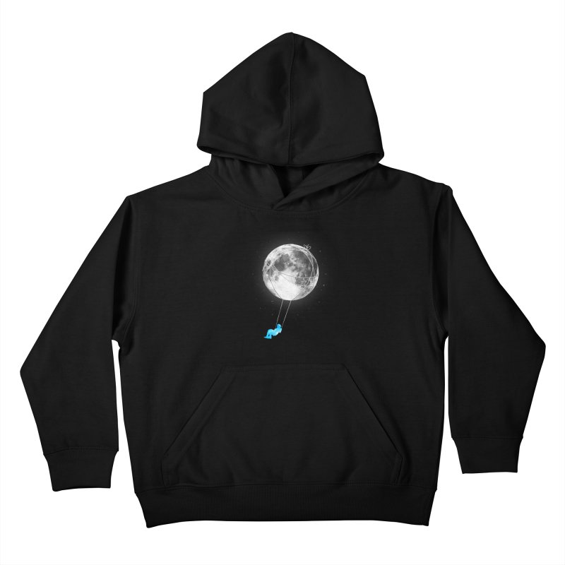 Moon Swing Kids Pullover Hoody by nicebleed