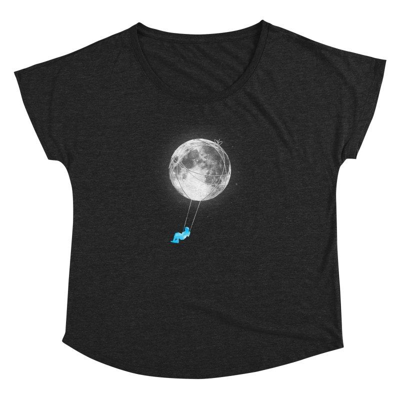 Moon Swing Women's Dolman Scoop Neck by nicebleed