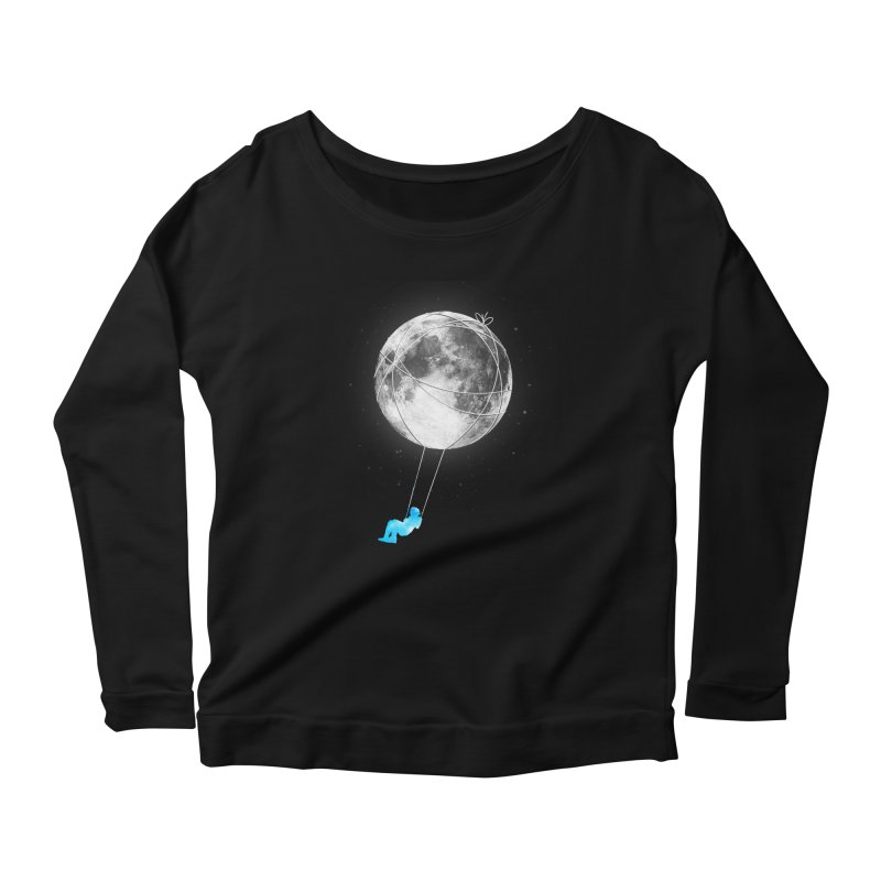 Moon Swing Women's Scoop Neck Longsleeve T-Shirt by nicebleed